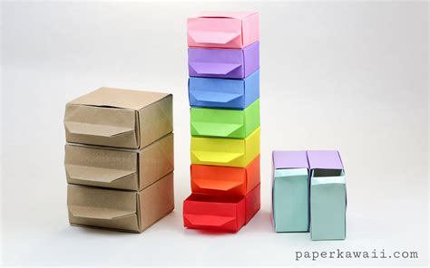 Origami Out Of Paper - origami chest of drawers tutorial paper kawaii