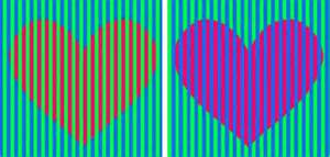 optical color can you tell what color the hearts are in this viral photo