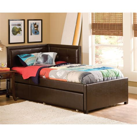 kids day beds hillsdale frankfort upholstered corner daybed kids