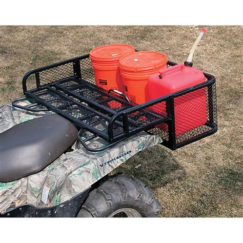 2 pc atv rear drop basket 125598 racks bags at