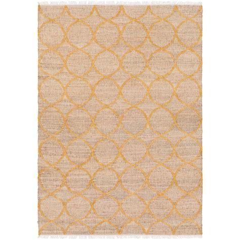 bright yellow area rug artistic weavers chilam bright yellow 6 ft x 9 ft indoor area rug s00151019633 the home depot