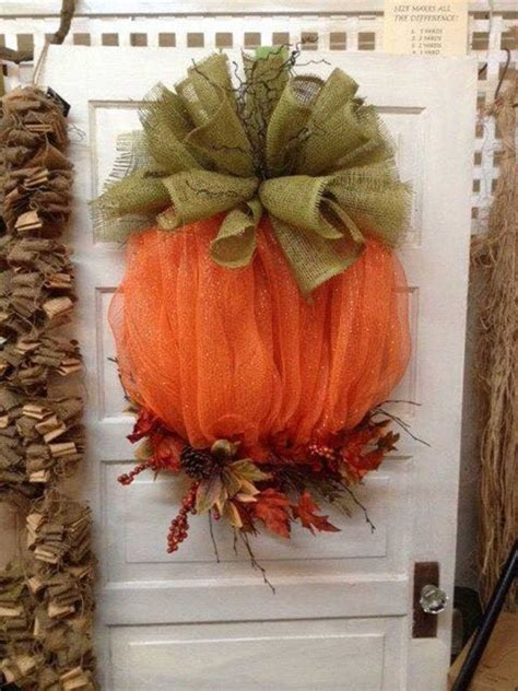home made fall decorations best 25 pumpkin wreath ideas on pinterest deco mesh