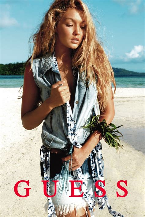 model gigi hadids guess ads are here and theyre the sharper gigi hadid stephan lambert for guess ss