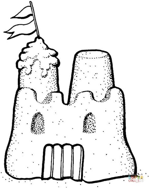Sandcastle Coloring Page sand castle coloring page free printable coloring pages