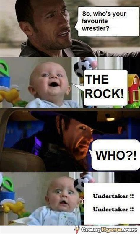 The Rock In Car Meme - baby s favorite wrestler