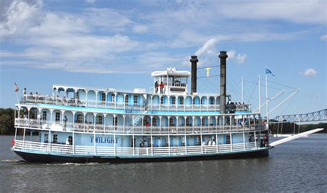 mississippi river river boat cruises tour the riverboat twilight mississippi river cruises on