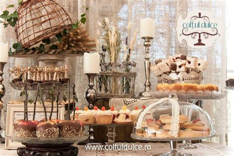 Sweet Cornerdessert Table 21 rustic vintage bar coltul dulce dessert table