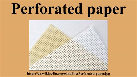 How To Make Perforated Paper - perforated paper