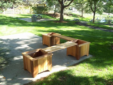planting bench t l planter bench set wood country