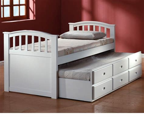 trundle bed with drawers dreamfurniture com san marino white finish bed with