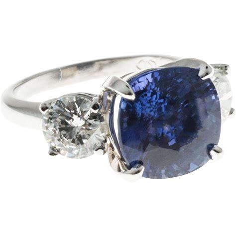 Blue Sapphire 7 72ct vintage 7 72ct cushion blue sapphire 1 70ct