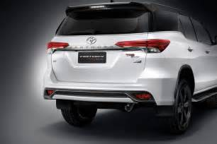 new toyota car price toyota fortuner gets trd treatment cars co za