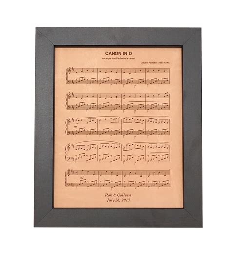 Wedding Songs Sheet by Leather Anniversary Gift Engraved Sheet