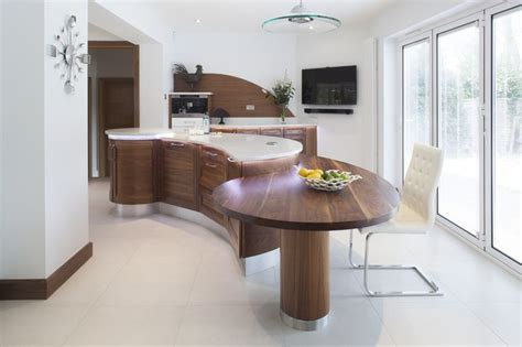 curved island kitchen designs stunning stoneham kitchen with sweeping curved island norman islands and