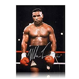 Boxer Mike Hello mike tyson signed boxing photo baddest on the planet