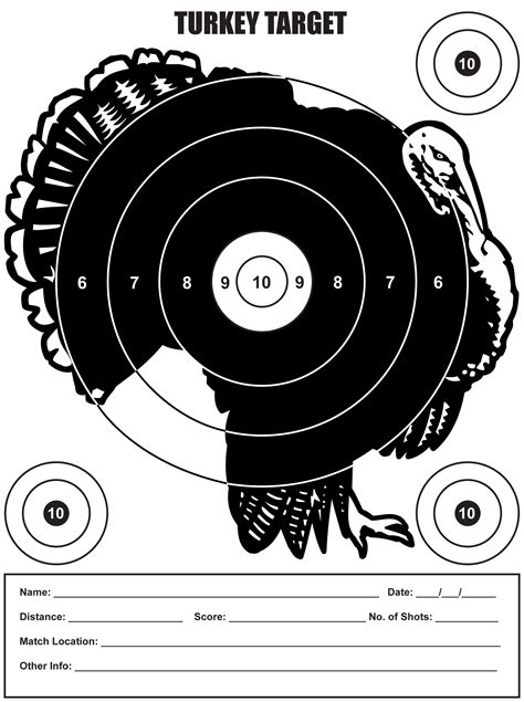printable turkey targets for shooting shot gun targets pictures to pin on pinterest pinsdaddy