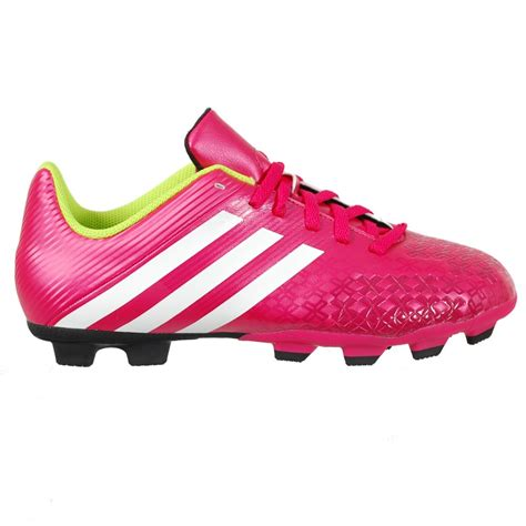 pink football shoes adidas predito lz trx fg firm ground junior football boot