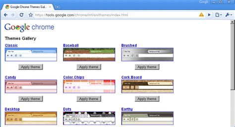 google themes gallery google chrome themes gallery live