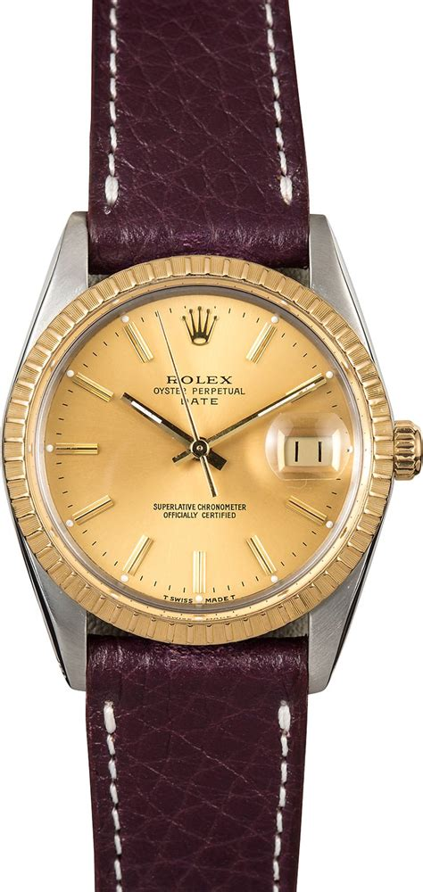 Rolex Leather Date rolex date 15053 leather
