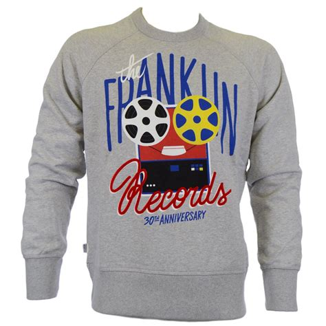 Franklin Records Franklin Marshall Ontario Grey Sleeve Records Sweatshirt Franklin Marshall