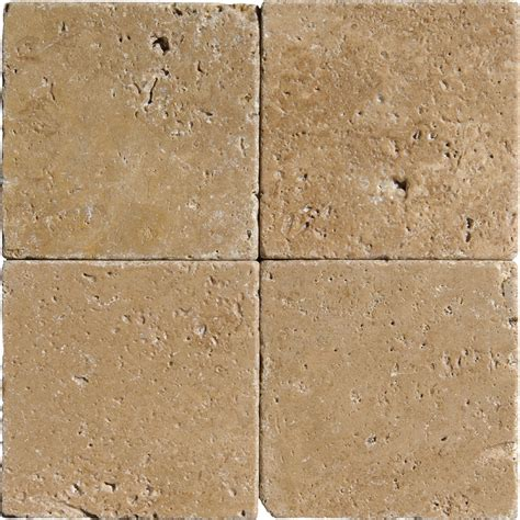 brown noce tumbled 4x4 travertine tile