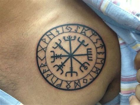 viking tattoo placement 1000 ideas about viking compass tattoo on pinterest