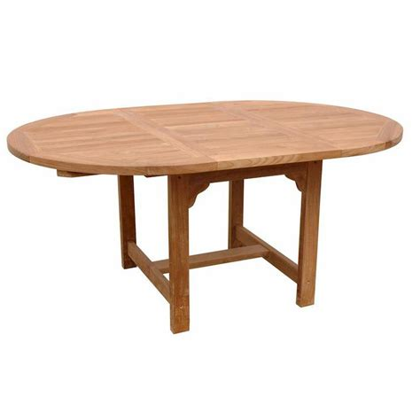 6 Person Dining Table Teak Bahama Chicago 6 Person Teak Patio Dining Set With 67 Inch Extension Table