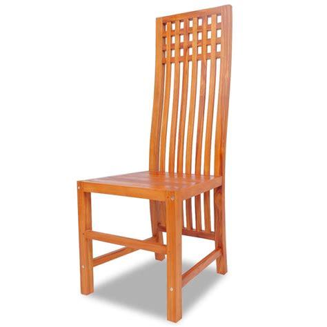 sedie sala pranzo vidaxl sedia sala da pranzo in legno massello di teak