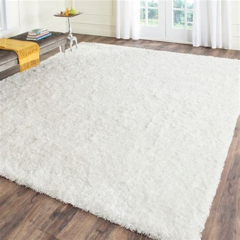 white fluffy bedroom rugs 7 square shiny ish safavieh hand tufted malibu shag