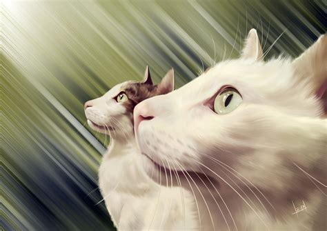 painting for cats cats digital painting by alvesan on deviantart