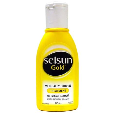 Selsun Gold Shoo Dandruff 60ml120ml Selsun Gold Anti Dandruff Shoo Treatment 125ml Chempro