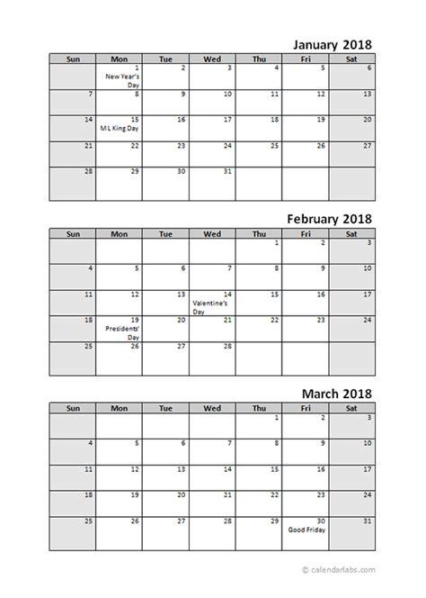 quarterly calendar  holidays  printable