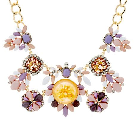 susan graver multi colored statement necklace page 1