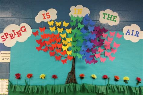 educational themes for april 3d butterfly bulletin board quot spring is in the air