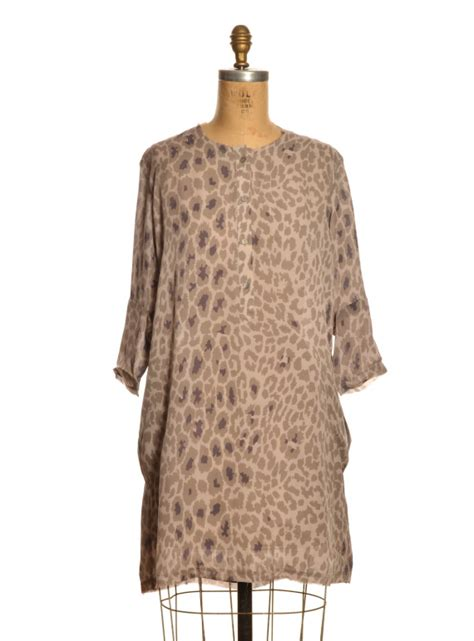 Mercy Tunic isobelle leopard print tunic dress by mercy delta