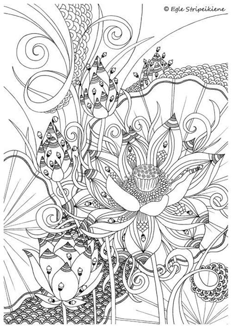 coloring pages of different designs coloring page for adults lotus by egle stripeikiene size