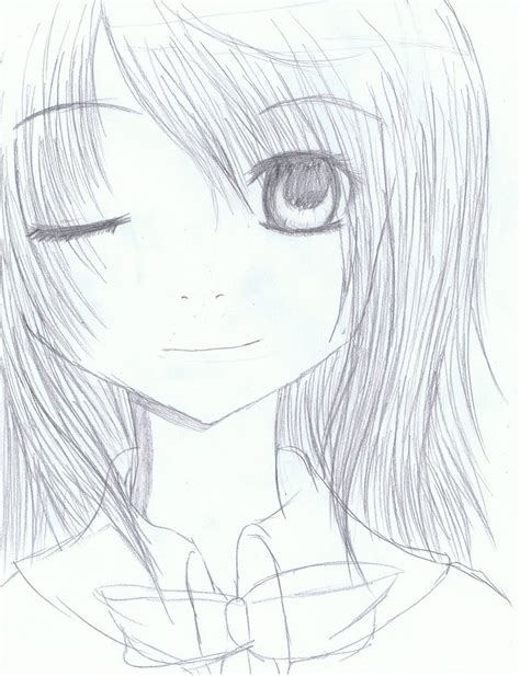 anime headshot sketch by xosachiko bafukuox on deviantart