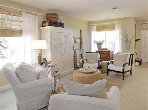white furniture living room ideas beachfront bargain hunt hgtv