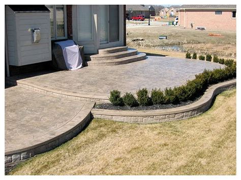 Good Small Backyard Concrete Patio Designs 40 Home Design Small Concrete Patio Designs