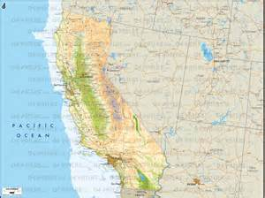 physical map of california geoatlas united states canada california map city