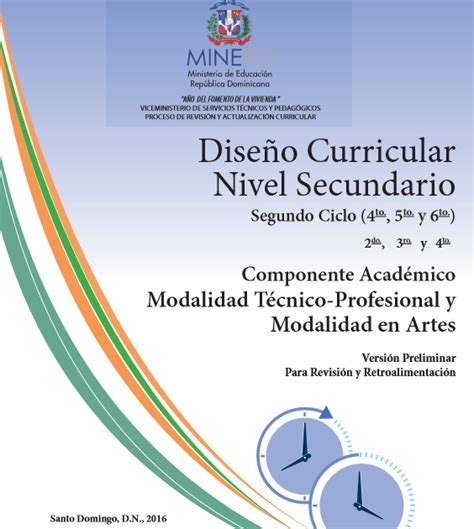 Dise O Curricular Educativo Dominicano distrito educativo 05 06 jornada de verano secundaria 2017