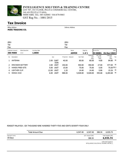 issuing tax invoices australian taxation office invoice template