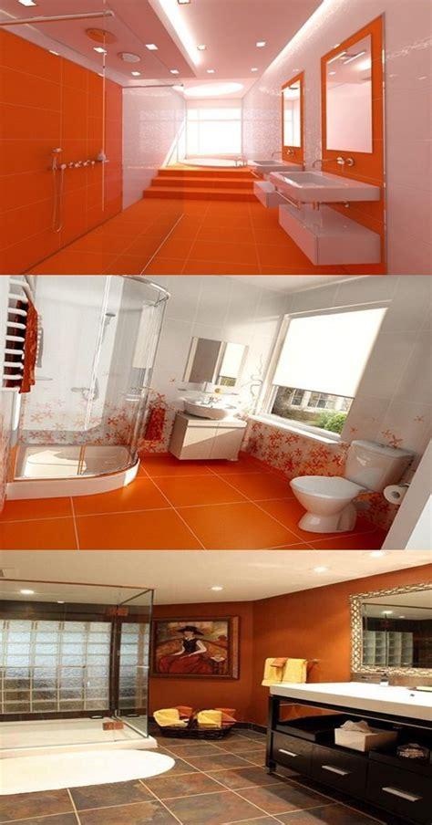 orange bathroom decorating ideas interior design