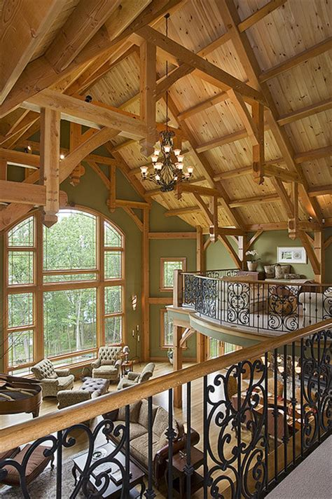 timber frame great room lighting timber frame great room contemporary family room