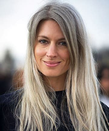 celebrities women grey hair in their 40s how to flaunt gray hair like a celebrity long grey hair