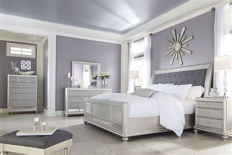 coralayne silver bedroom set     ashley furniture