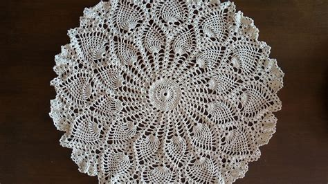 youtube doily pattern crochet doily rounded pineapples doily part 1 youtube