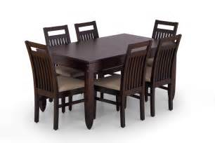 Setting A Dining Table Buy Large Wooden Dining Table Set 6 Seater Wooden Dining Set Ekbote Furniture India