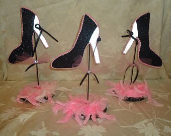 High Heel Shoe Table Decorations by High Heel Shoe Centerpiece Set Wedding Centerpieces Shoe
