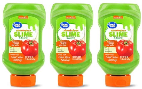 colored ketchup walmart introduces great value nickelodeon slime sauce